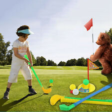 Child Mini Leisure Golf Club Set Outdoor Indoor Safe Practicing Kids Plastic Toy