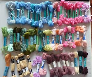 Job Lot 60 Tapestry Wool - Anchor, Lesur, Appleton Some Full Some Part Full