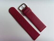cinturino in pelle rosso 22 mm cinturino viti di fissaggio Skagen Bering Rosso