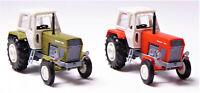 TT 2 x BUSCH Traktor Fortschritt ZT 300-E rot & grün im Doppelpack # 8702 & 8701