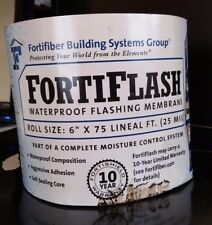 "FortiFiber Systems FortiFlash Waterproof Flashing Membrane 6 "" x 75 FT 25 Mill"