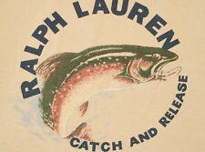 Vintage Polo Ralph Lauren Catch and Release Fishing Shirt sz XXL