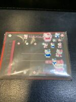 VINTAGE 1997 SANRIO  HELLO KITTY STATIONARY SET  STICKERS BLACK PINK RARE