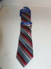 APT.9- MEN -  KORIN STRIPE TIE AND TIE BAR CLIP SET. - RET.@ $34.00(BBLK-24-29)