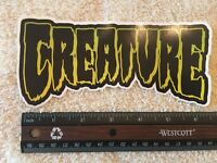 Creature Logo Skateboards Sticker, Authentic & Original By Creature Skateboards