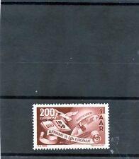 Saar Sc C12(Yt A13)*Vf Nh 1950 200F Brown Carmine, Airmail, $500