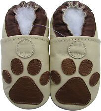 carozoo paw cream 12-18m soft sole leather baby shoes