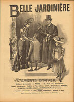 """1900 large french  advert for """"  belle jardiniere """" victorian customers"""