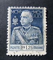 """ITALIA, ITALY REGNO 1925-26 """" Giubileo del RE"""" 1,25L azzurro USED d.11 ss.191"""
