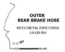 FOR SEAT LEON 1M1 SDi TDi CUPRA TURBO OUTER REAR BRAKE HOSE METAL PIPE FITTED