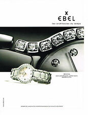 PUBLICITE ADVERTISING  2000   EBEL  collection BELUGA  montre