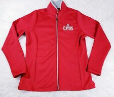 La Clippers Womens Jacket Size Large Antigua Red Full Zip Basketball EUC