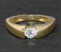 Diamant Brillant Damen Ring 0,53ct / G / Si2, 585 Gold, Gelbgold 14K Schmuck Neu