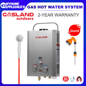 GASLAND lux Portable Gas Hot Water Heater Camping Pump Shower Stand Caravan