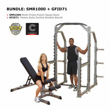 COMBO Body-Solid Multi-Press Power Squat Rack and Bench Set - Free Shipping!
