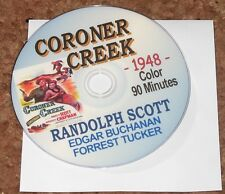 CORONER CREEK (1948) DVD RANDOLPH SCOTT, EDGAR BUCHANAN RARE USA WESTERN CLASSIC