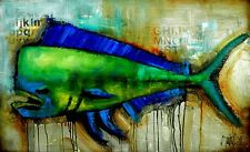 FISH PAINTING - MADE TO ORDER - ABSTRACT ART - contemporary ART by SLAZO