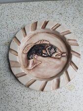 Hand Made Cearamic Ashtray Fishing Cabin Decor / Man Cave