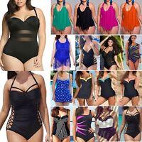 Plus Size Women One-piece Swimwear Monokini Beach Swimsuit Bikinis Bathing Suit