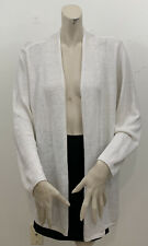 TALBOTS WOMEN'S WHITE OPEN FRONT CARDIGAN SWEATER SIZE 2X