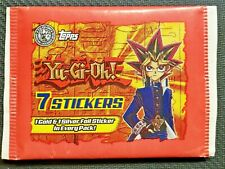 1996 YU-GI-OH! TOPPS 7 STICKER PACK 1 GOLD & 1 SILVER FOIL IN EVERY PACK English