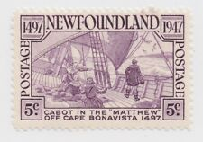 1947 Newfoundland - 450th Anniversary Discovery Newfoundland - 5 Cent Stamp