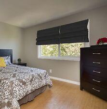 "NEW 72"" L Brown Fabric Roman Window Shades-Bedroom Living room-Energy Efficient"