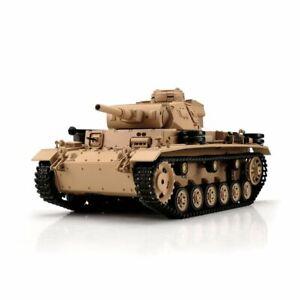 1/16 RC Panzer III Ausf. H Sand BB + Ir (Metal Chain)