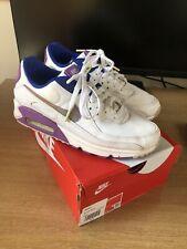 RARE Nike Air Max 90 NS SE White Purple Nebula Girls Women's Trainers Size 8