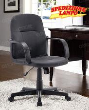 Sedia Girevole Da Ufficio direzionale imbottita per casa ufficio nero ERLANGEN