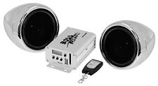 BOSS AUDIO MC520B Chrome 600 watt Motorcycle/ATV Sound System with FM Tuner with