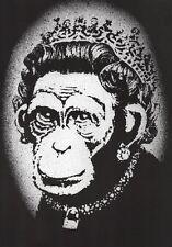 Banksy Monkey Queen Ed.300 Firma Impresa Ed.numerado a lapiz Spain