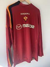 Roma Football Shirt 2002-03 Xxl Diadora Original Long sleeved