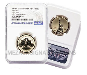 HOT 2019 American Innovation $1 NGC REVERSE PF70 First Day of Release New Jersey