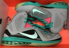 Nike Lebron IX 9 P.S. Elite South Beach Grey Green Pink 516958-001 Sz 10.5