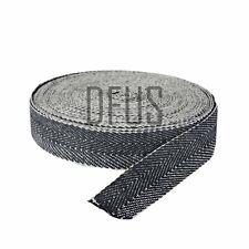 "5mtr Black & White Strong Herringbone Webbing 2"" Wide. Upholstery Supplies"