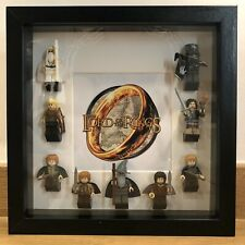 Mini-figure Display Frame inc figures Lord Of The Rings custom Figures fits Lego