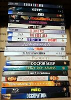 Lot of 20 BluRay Discs All with Slipcovers No DVDs No Digital Great For Resale !