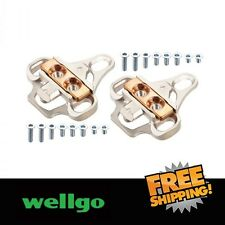 Wellgo RC8 Shimano SPD Shoes Adapter Cleats -Silver