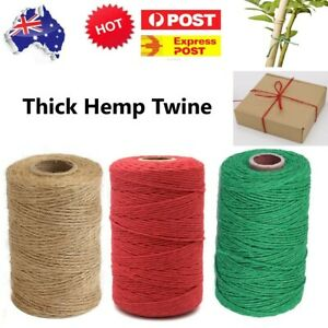 Thick Hemp Rope String Natural Jute Hemp Manila Twine Cord DIY Decorating - 2mm