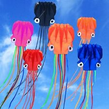 4m Single Line Stunt purple Octopus POWER Sport Kite Outdoor Sport Toys