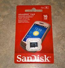 SanDisk microSDHC Card 16GB Class 4