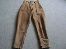 VINTAGE LADIES 100% REAL LEATHER SUEDE JODHPUR TROUSERS UK 8-10 1980s