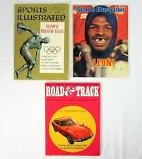Sports Illustrated Magazine 1956 Olympic Preview & 1978 Leon Spinks, Plus 1967..