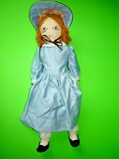 Well Detailed Vintage 19 Inch All Fabric Doll