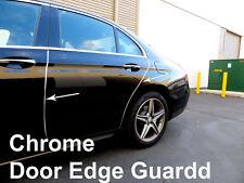 Fit 2009-2018 Fiat CHROME DOOR EDGE GUARD Protector Trim 4pcs Kit