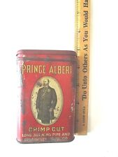 Empty Red Prince Albert Crimp Cut Long Burning Pipe And Cigarette Tobacco Tin