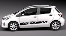 Toyota YARIS - 2pcs Side Stripe body Decal graphics vinyl sticker logo Quality