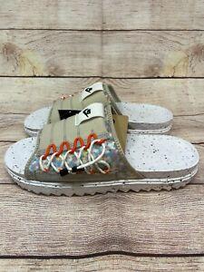 Nike Asuna Crater Slide Cream II Black White Orange DJ4629 200 Size 11