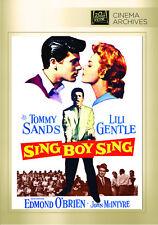 Sing, Boy, Sing 1958 (DVD) Tommy Sands, Lili Gentle, Edmond O'Brien - New!